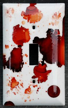 Blood Spatter Switch Plate Cover   A tribute by uncommoncoasters, $4.99