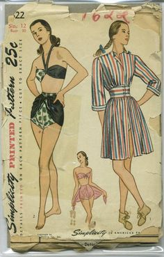 Vintage Simplicity Swimsuit Sewing Pattern 1622