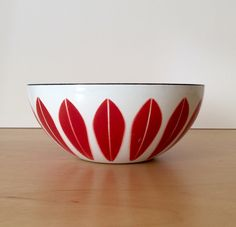A personal favorite from my Etsy shop https://www.etsy.com/listing/255536430/vintage-red-cathrineholm-lotus-pattern