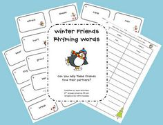 Winter Friends Rhyming Words - Pinned by @PediaStaff – Please visit http://ht.ly/63sNt for all (hundreds of) our pediatric therapy pins