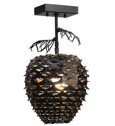Stoneycreek Pinecone 1 Light Semi Flush Mount