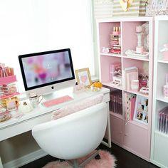 Home Office Space, Home Office Design, Home Office Decor, Study Room Decor, Bedroom Decor, Desk Inspiration, Ikea, Glam Room, Beauty Room