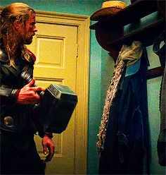 He's a very considerate house guest. | 22 Reasons Why Thor Is The Most Underrated Avenger