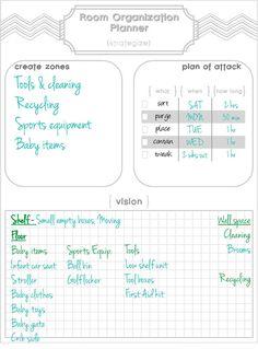 Room Organization Planner & Printable