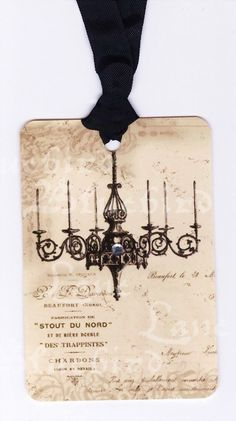 French Tags , Vintage Style ,  Romantic French Chandelier ,  Wedding Tags. $6.00, via Etsy.