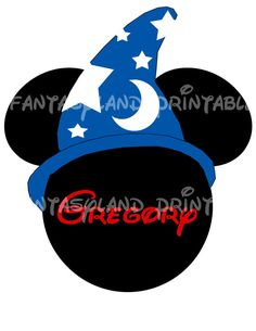 Sorcerer Mickey Mouse MGM DIY Printable by FantasylandPrintable