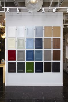 Cabinet Colors in the 59th St Showroom