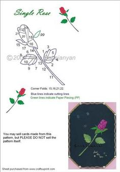 Single Rose Iris Folding Pattern on Craftsuprint designed by Anna Babajanyan - This is a very beautiful pattern which is easy to cut and fold are quite simple too. The pattern is suitable for almost any occasion be that Birthday, Thank You, Anniversary, Valentine's Day, Friends,Congratulations, Sympathy etc. Great both for cards and Wall-Art. - Now available for download!