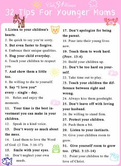 32 Tips for Younger Moms
