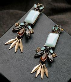 Elegant Blue Moonstone Stud Earrings - AtPerrys Healing Crystals - 1