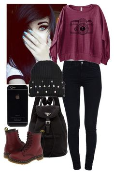 """""""Untitled #326"""" by beayoutifulg ❤ liked on Polyvore featuring STELLA McCARTNEY, Prada and Dr. Martens"""