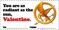 Hunger Games Valentines - Free Download