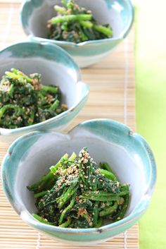 Japanese recipe: Spinach with sesame dressing
