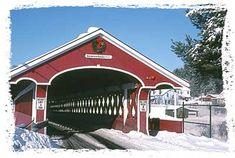 Thompson Covered Bridge - West Swanzey NH    #covered_bridge #swanzey #nh