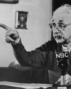 Albert Einstein records a lecture in Jan., 1955, just four months before his death: The venerable scientist's brain was removed just hours after he passed away
