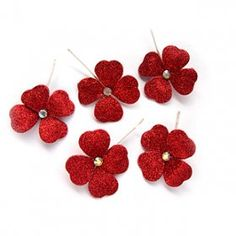 Thousand color brides four grass red headdress flower Han type nuptial dress head ornaments match play the part of the marriage jewelry 7 colors to be possible to elect              $0.81