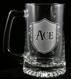 vintage bar sign personalized 25 oz deep etch beer mug father s