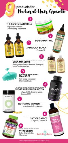 9 Products for Natural Hair Growth : Curly Girly Says
