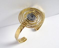 IM XXVI | Silver Gold Plated Cuff Bracelet - product image