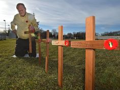 Every Nov. 11 since 2005, Aart Van Sloten and his wife Janna have loaded up their van with small, wooden crosses and headed to Rundle Park in northeast Edmonton. The destination, the Ainsworth Dyer…