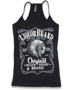 Liquor Brand Damen FIREWATER Tank Tops.Tattoo,Biker,Pin up,Custom Style