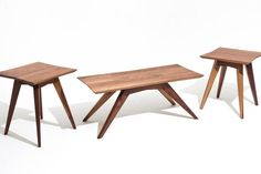Basement Furniture, Furniture Projects, Living Room Furniture, Furniture Design, Modern End Tables, Modern Coffee Tables, Art Deco Coffee Table, Mid Century Coffee Table, Walnut Dining Table