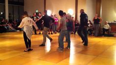 The Beast Linedance - cute advanced line dance - and they're having fun. That's the way to do it!