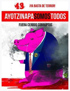 El pasado 26 de septiembre jóvenes de la escuela normal rural de Ayotzinapa fueron atacados por la policía municipal de Iguala en el estado de Guerrero