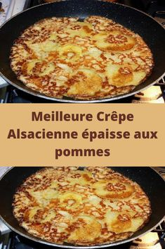 Best thick Alsatian pancake with apples - Recettes Astuces - Desserts Healthy Breakfast Recipes, Easy Dinner Recipes, Sweets Recipes, Easy Desserts, Tart Recipes, Chefs, Buckwheat Crepes, Low Carb Recipes, Cooking Recipes
