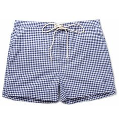 Gant Rugger Short-Length Gingham Check Swim Shorts | MR PORTER