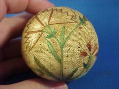 Antique 18th c. American Pin Ball Pincushion by AmericanaAntiques