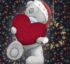 Teddy Pictures, Bear Pictures, Cute Pictures, Tatty Teddy, Christmas Hearts, Christmas Ornaments, Blue Nose Friends, Holiday Wallpaper, House Mouse