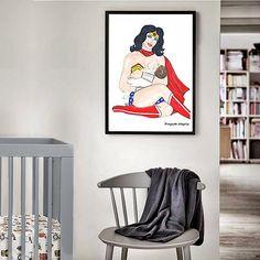 Breastfeede Art PRINTABLE Wonder Milk Breastfeede Decal