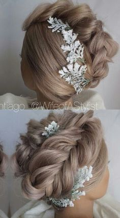 Beautiful updo hairstyle for prom or wedding #bridal #formal #prom2016