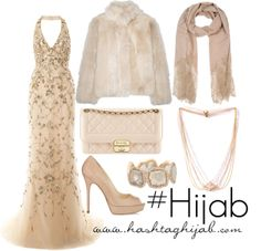 Dress and color scheme gorgeous. Fur is never