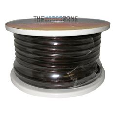 PW-4-100BHQA Black High Quality 4 Gauge 100 Feet Power Battery Cable. High-amperage and ultra-flexible. Color: Black. 100' spool. 4 gauge. High quality battery cable. High temperature, chemical resistant, non-gripping jacket with measurement increments.
