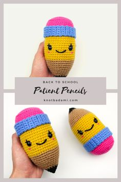 It's back to school season, get started with your new diy project! Get started with amigurumi with this crochet pattern. Create your own cute crochet pencil with this easy crochet pattern that is great for school. Cute and kawaii, this basic and beginner friendly DIY project is perfect for any crocheter. This stuffed pencil amigurumi is perfect for home decor! Easy and free stuffed animal pencil. This was made in collaboration with JOANN stores #sponsored #handmadewithJOANN Cute Crochet, Crochet Crafts, Crochet Dolls, Easy Crochet Patterns, Photo Tutorial, Slip Stitch, Single Crochet, Fun Projects, Collaboration
