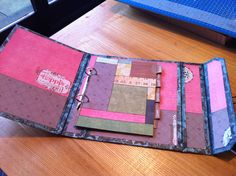 altered ring binder decorated.