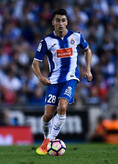Marc Roca of RCD Espanyol runs with the ball during the La Liga match between…