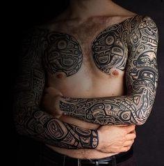 Awesome Haida Tattoo Design for Men 홍콩카지노 SK8000.COM 홍콩카지노
