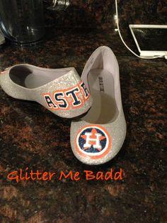 Houston Astros Glitter flats
