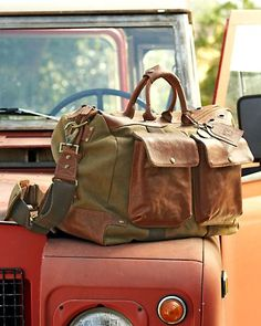 Will Leather Goods Hemingway Duffle  #MomsWithWILL My Mom would <# this because she loves more natural down to earth looking products instead of something too flashy!