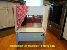 presentation board puppet theater (folds up for storage)