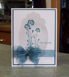 Handmade Sympathy Card Stampin Up Serene by WhimsyArtCards on Etsy, $4.50