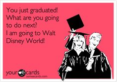 You just graduated! What are you going to do next? I am going to Walt Disney World!