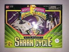 MMPR - SHARK CYCLE w/ WHITE RANGER - 1995