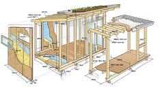 Die Skizze zu unserem Gartenhaus