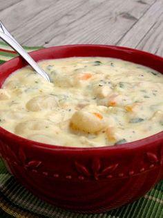 Soupe gnocchis et poulet