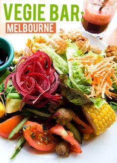 10 BEST VEGETARIAN + VEGAN JOINTS IN AUSTRALIA In Season Produce, Cafe Restaurant, For Your Health, Veganism, Recipe Collection, Cobb Salad, Vegan Vegetarian, Melbourne, Delish