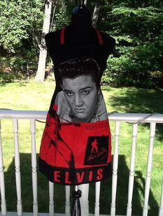 Elvis Presley Black Red Unisex Barbecue by MothersApronString